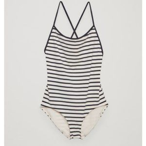 COS Crossover Scoop Neck Swimsuit X Open Back Stri